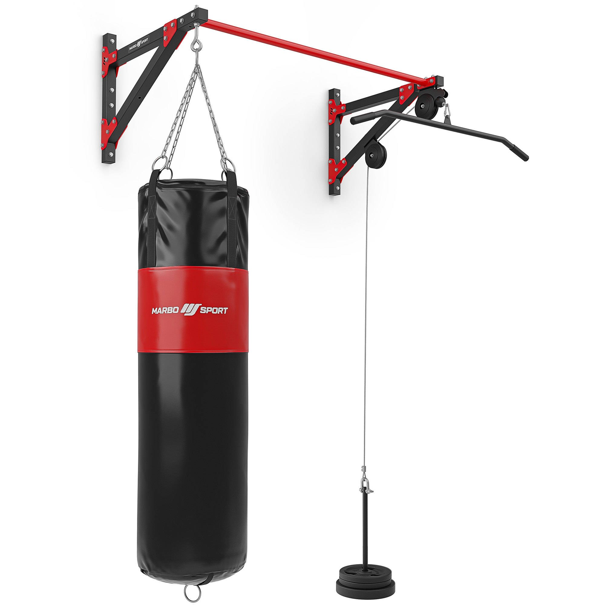 Multifunctional stick with extractor and 3in1 punching bag attachment MH-D204 - Marbo Sport