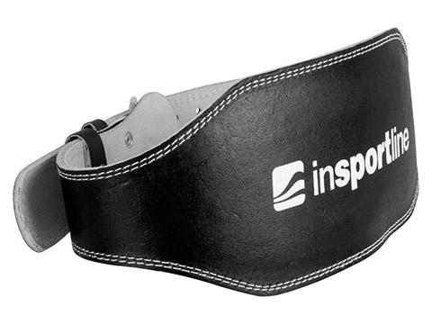 Pas kulturystyczny skórzany czarny - Insportline